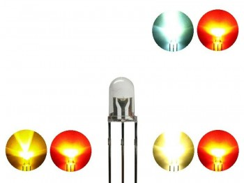 Duo LED 5mm Bi-color LEDs 3pin digital Lichtwechsel Loks Wendezug FARBAUSWAHL