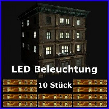 s333 10 st ck led hausbeleuchtung 5cm wei smd beleuchtung h user geb ude. Black Bedroom Furniture Sets. Home Design Ideas
