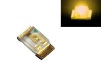 S190 - 100 Stück SMD LED 0603 gelb LEDs yellow