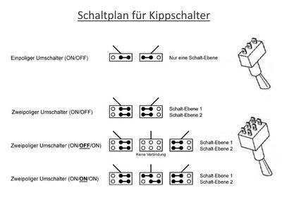 s044 20 st ck schalter miniatur kippschalter 6 polig. Black Bedroom Furniture Sets. Home Design Ideas