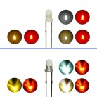 Duo LED 3mm Bi-color LEDs 2pin Lichtwechsel Beleuchtung Loks Wendezug FARBWAHL
