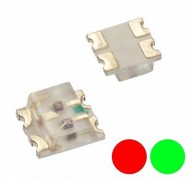S739 - 20 Stück DUO Bi-Color LEDs SMD 0605 rot / grün bicolor red / green
