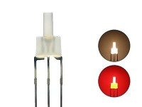 S445 20 Stk. DUO LEDs 2mm Bi-Color warmweiß rot diffus Lichtwechsel Loks DIGITAL