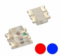 S740 - 10 Stück DUO Bi-Color LEDs SMD 0605 rot / blau bicolor red / blue