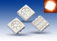 S927 - 100 Stück SMD LED PLCC-6 5050 orange 3-Chip LEDs amber